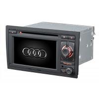 Quality AUDI A4 ST-8604 Italian, German DIVX, CD-R, WMA Audi Car DVD Player With Virtual 6 Disc Charger for sale