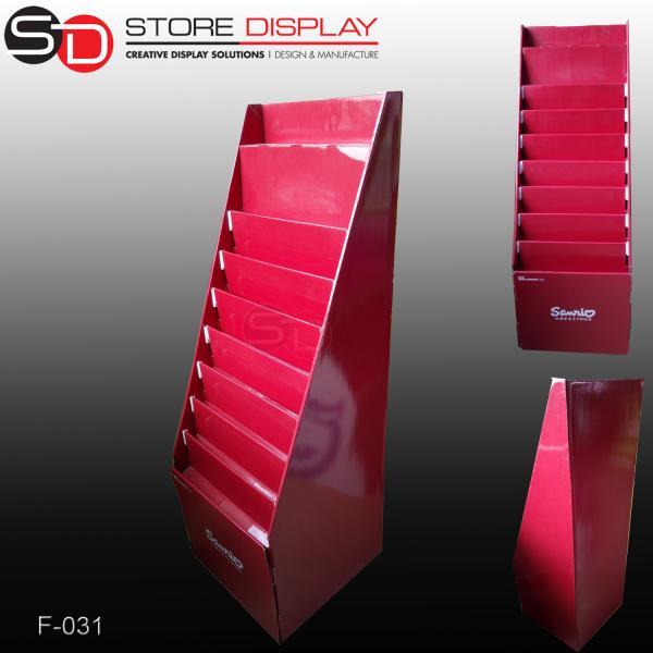 Buy POS Advertising cardboard floor display stand at wholesale prices
