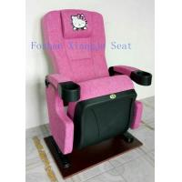 Quality Hello Kity Headrest Cinema Theatre Chair Iso Certification Pp Armrest  Flame Retardant Fabric for sale