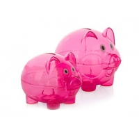 Quality Hot sale daily necessity products for children cute pig design plastic transparent piggy bank for sale