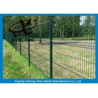 Quality 3D Curved Sport Field Garden Fence Panels Green Vinyl Coated for sale