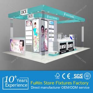 Quality luxury cosmetics kiosk showcase design to display eyeshade for sale