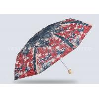 Quality Unbreakable 5 Fold Umbrella Micro Travel Umbrella Flowers Trees Painting for sale