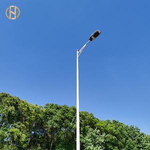 Quality Steel Street Light Pole Galvanized / Spray Powder Surface Treatment for sale