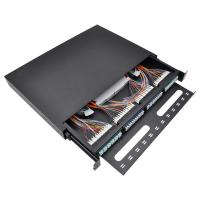 Buy cheap OTB 12 24 36 48 96 Core Fiber Optic Sliding Patch Panel Powder Coated Interface from wholesalers