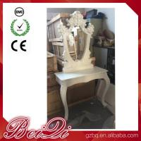 Quality Princess Salon Mirror for Barber Shop Furnture Wood Mirror Table Luxury for sale