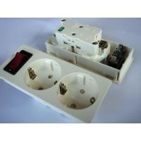 Quality Germany Double Electric Power Sockets Power Outlet With Switch Control for sale