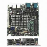 Quality Industrial Motherboard in Mini-ITX Form Factor with Dual Core Intel Atom Processor D2550 for sale