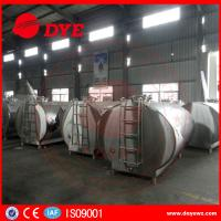 Quality DYE Stainless Steel Milk Transportation Tank Direct Expansion Refrigeration for sale