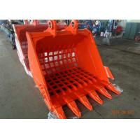 China Doosan DX 480 Excavator Bucket Attachments 2.85 Cum Skeleton / Grating Bucket on sale
