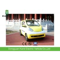 Quality Yellow Lightweight 2 Seater Mini Electric Car With Permanent Magnet Synchronous Motor for sale