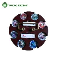 Quality SGS Approval Customized 200 Pcs Casino Poker Chip Sets With Round Wooden Tray for sale