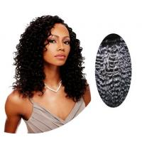 Quality Water Wave / Kinky Curly Human Hair Wigs100% Brazilian Body Wave Hair for sale