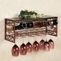 Quality Metal Wine and Stemware Wall Rack for sale