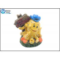 Quality Lovely Artificial Yellow Octopus Fish Aquarium Ornaments For Decorating Aqauriums for sale