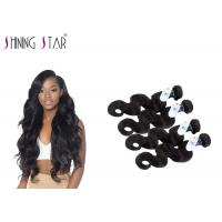 Quality Peruvian Body Wave Unprocessed Remy Hair Weave For America Girls No Tangle for sale