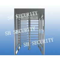 Quality Automatic stainless steel full height pedestrian turnstile for sale