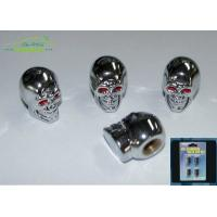 Quality Skull Head Chrome Plastic Car Exterior Accessories tire pressure valve caps for sale