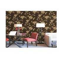 Quality Home Decoration PVC Embossed Wallpaper Waterproof With European Flower for sale