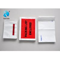 Quality Recyclable Mailing packing list enclosed pouches tear resistance for sale