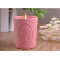 Quality Character Candle Cup Holders Ceramic Candle Containers With Candle Light for sale