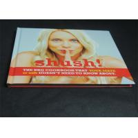 Quality Glossy Paper Lamination Embossed Cookbook Hardcover Book Printing 350gsm for sale