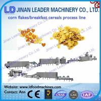 Quality Corn flakes breakfast cereal manufactured by twin-screw extruder for sale