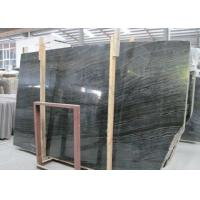Quality Ancient Wood Black Marble Stone Slabs Large Marble Tiles For Building for sale
