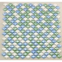 Quality Smooth Fish Scale Multi Coloured Mosaic Glass Tile Sheets For Background Building for sale