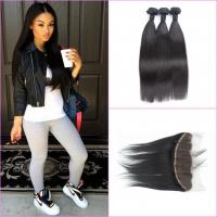 Quality No Chemical Unprocessed Human Hair Bundles / Silky Straight Remy Hair for sale