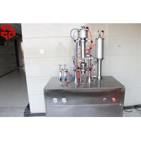 Quality Under Cap Vacuum Semi Automatic Aerosol Filling Machine For Car Refrigerants for sale