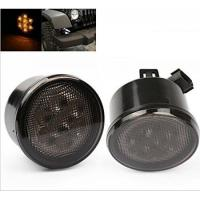 Quality Yellow LED Vehicle Work Light Front Turn Signal Light Assembly With Smoke Lens for sale