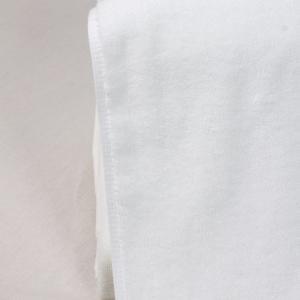 Quality 34x75cm White Cotton Face Towel for sale