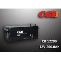Quality 200AH CB122000 ABS Plastic V0 Solar Lead Acid Battery Non Spillable construction for sale