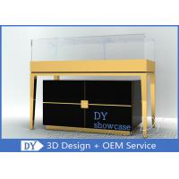 Buy Custom Jewelry Showcase Display Pedestal Showcase Glossy Black Color at wholesale prices