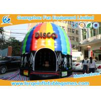 Quality 6*5*4M Inflatable Bouncy House Disco Bouncer With Led Light And Sound for sale