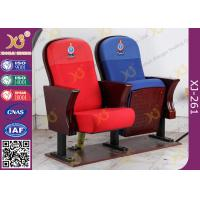 Quality Fire Retardant Vintage Wooden Theatre Seating Chairs For Church Project for sale