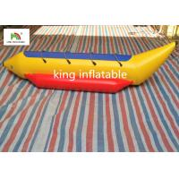 Quality 3 Persons 0.9mm PVC Banana Boat For Amateur Boat Race / Family Adventure for sale