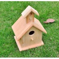 Two Level Wooden Bird Feeders 3 - 4 Birds Hanging 5.9 X 5.1 X 11 Inches