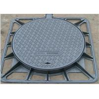 Quality High Strength D400 Double Seal Cover Cast Iron Black Surface For Algeria for sale