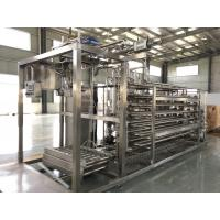 Quality Low Noise Mango Pulp Aseptic Juice Filling Machine 20L / 220L With PLC Control for sale