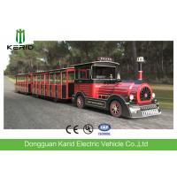 Quality 42 Seater Mini Trackless Train With Metal Structure Beam 76 KW Rated Power Petrol Engine for sale