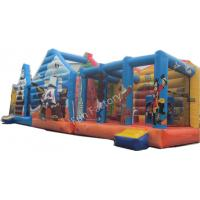 China Interesting Large Inflatable Obstacle Course Games With Digital Printing on sale