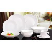 China square shape porcelain/new bone dinner plate/12/20/30pieces dinnerware sets on sale