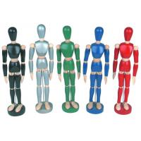 Quality Life - Sized Wooden Drawing Figure Model , Colourful Flexible Poseable Art Mannequin for sale