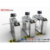 Quality Pedestrian Facial Recognition Turnstile ESD Fingerprint Access Control Barriers for sale