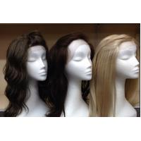Quality Indian Original 100% Lace Front Human Hair Wigs With Bleached Knots for sale