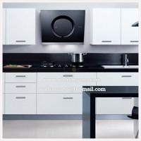 Quality Modern Kitchen Range Hood with Black Silk Screen Tempred Glass for sale