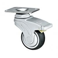 Quality Duoble Brakes Medical Caster Wheels With Plastic Bracket 3 Inch Plate for sale