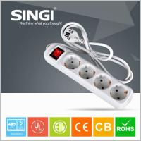 Buy Euro market Smart 4 gang adaptor intelligent power strips with CE certificate at wholesale prices